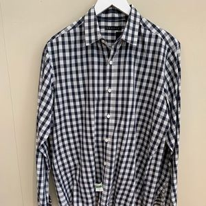 Other - Theory Navy and White Gingham Shirt